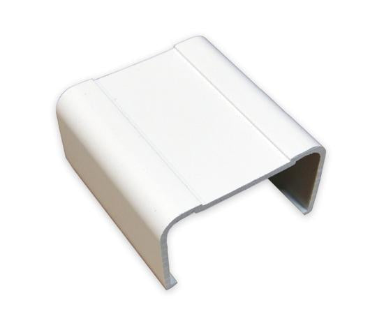 Raceway Duct Joint Cover Fitting - White