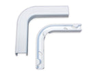 Raceway Duct Flat Elbow Fitting - White