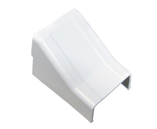 Raceway Duct Ceiling Entry Fitting - White