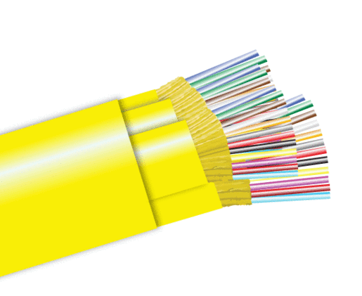 Tight Buffer Distribution Riser Fiber Optic Cable, Single Mode, Indoor