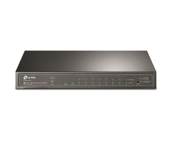 JetStream 8-Port Gigabit Smart PoE Ethernet Switch with 2 SFP Slots