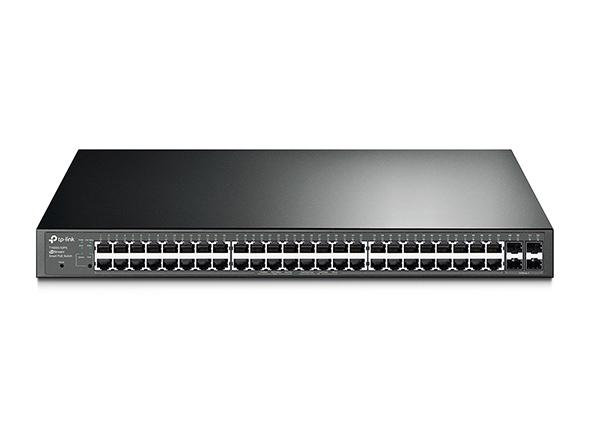 JetStream 48-Port Gigabit Smart PoE+ Ethernet Switch with 4 SFP Slots