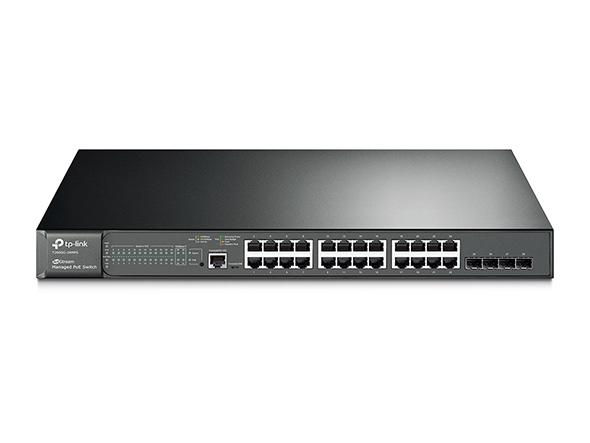 JetStream 24-Port Gigabit L2 Managed PoE+ Switch with 4 SFP Slots