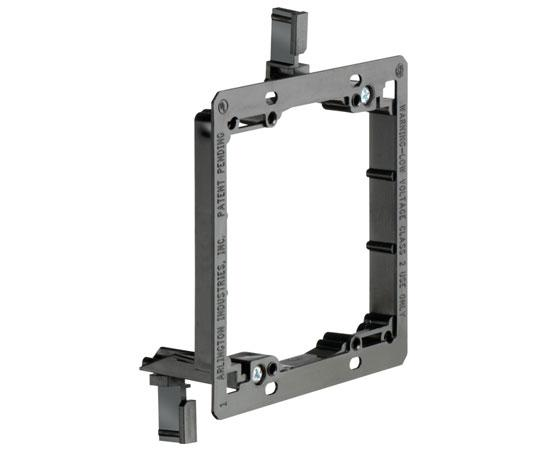 Non-Metal Mud-Ring Drywall Bracket - Dual Gang