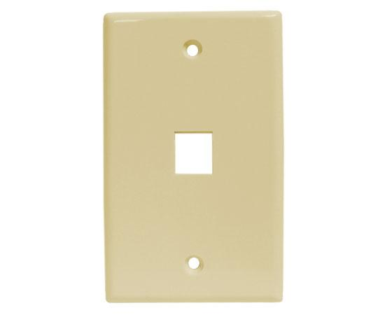 Classic Oversized Wallplate - 1-Port - Ivory