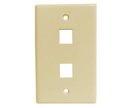 Classic Oversized Wallplate - 2-Port - Ivory