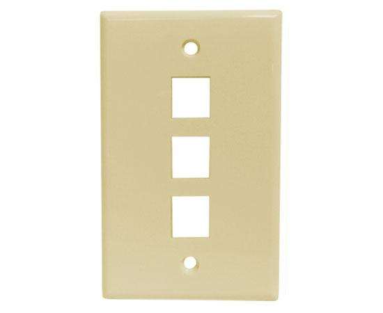 Classic Oversized Wallplate - 3-Port - Ivory