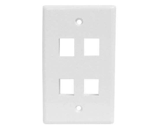 Classic Oversized Wallplate - 4-Port - White