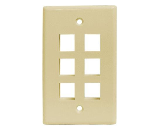 Classic Oversized Wallplate - 6-Port - Ivory