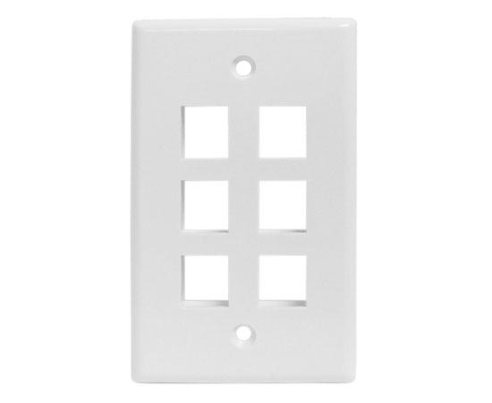Classic Oversized Wallplate - 6-Port - White