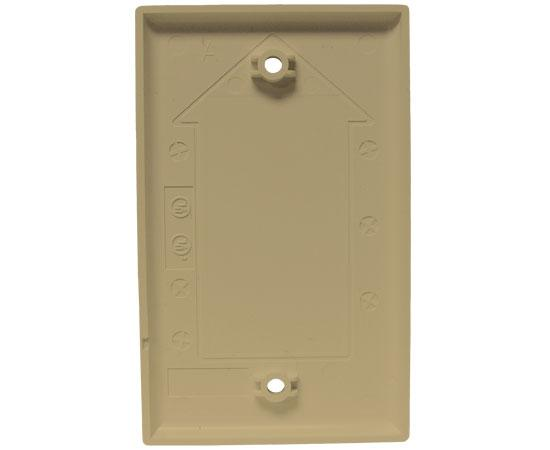 Blank Wall Plates, 2.3/4(W) x 4.1/2(H) - Ivory backside