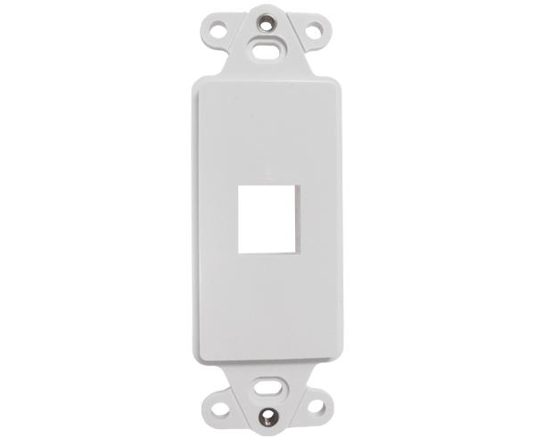 Decorative Wall Plate Insert - 1 Port