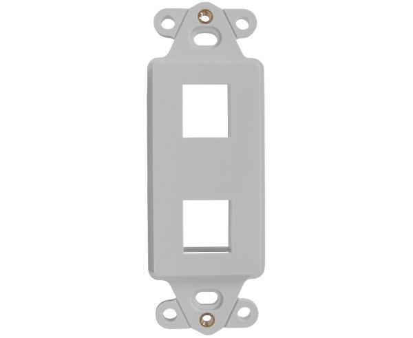 Decorative Wall Plate Insert - 2 Port