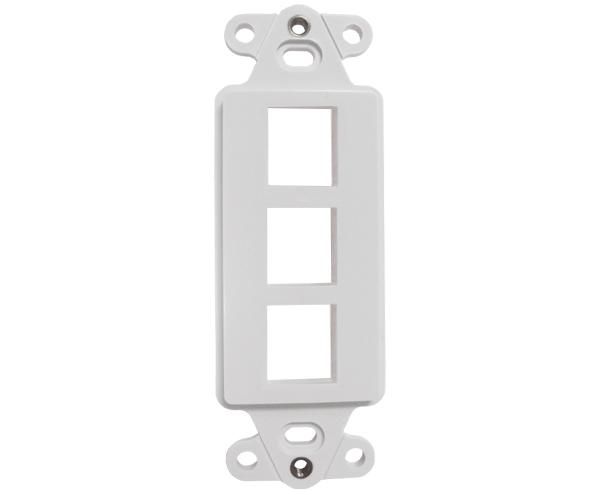 Decorative Wall Plate Insert - 3 Port