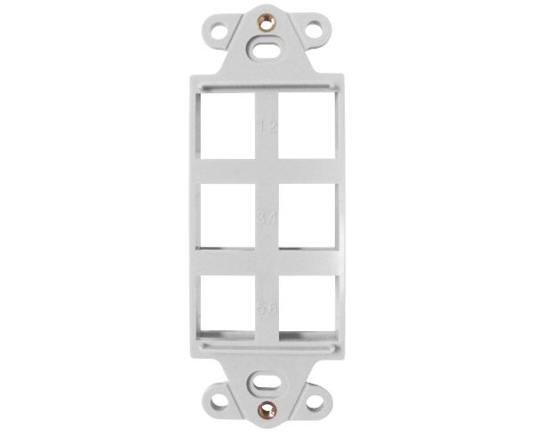 Decorative Wall Plate Insert - 6 Port