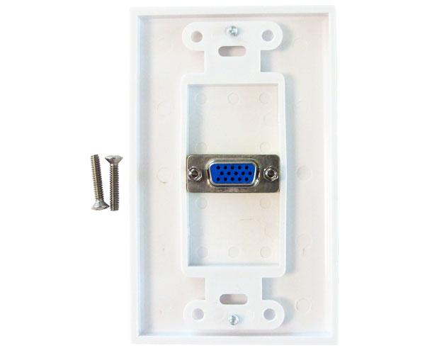 VGA to VGA Decor Wall Plate