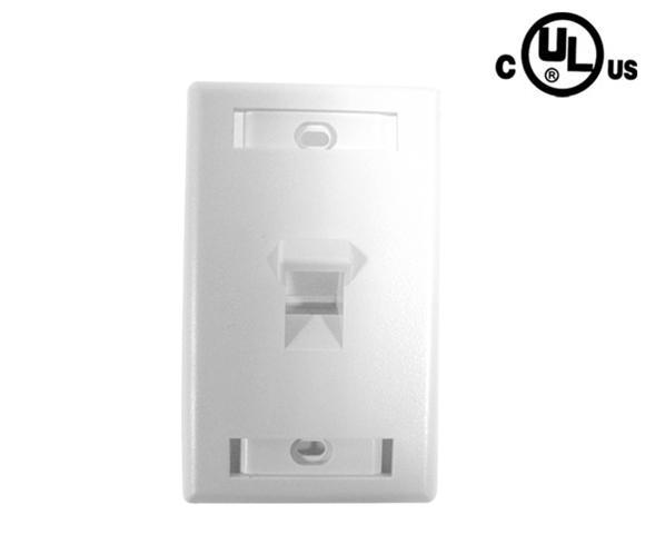 Angled Port ID Window Wallplate, 1-Port, Front
