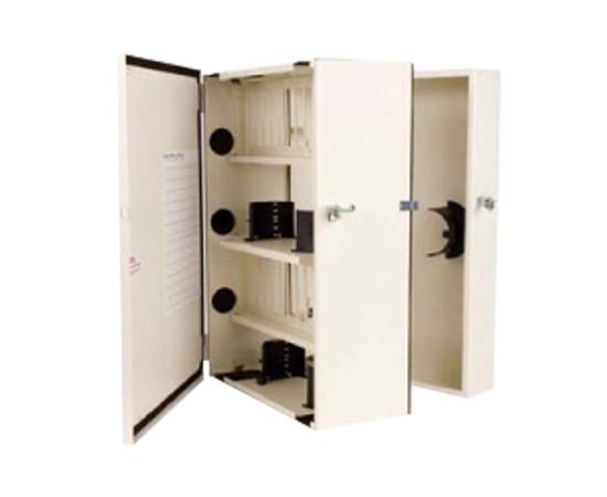 Fiber Wall Mount Enclosure, NEMA 12 Rated, 24 Panel & 144 Splice Capacity
