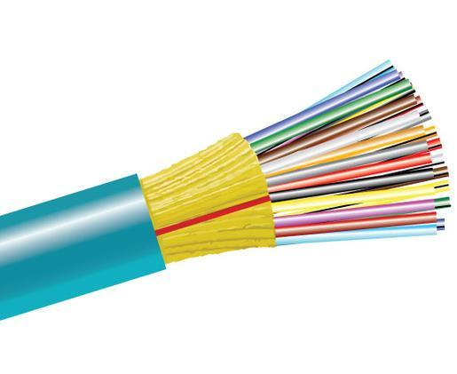 Tight Buffer Distribution Riser Fiber Optic Cable, Multimode, 10 Gig OM3, Indoor
