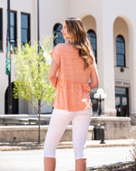 Sweet Peplum Short Sleeve Top