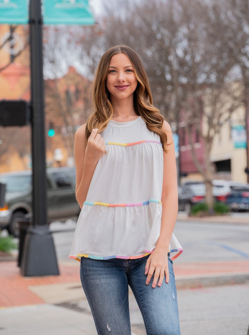 The Campbell Sleeveless Babydoll Top