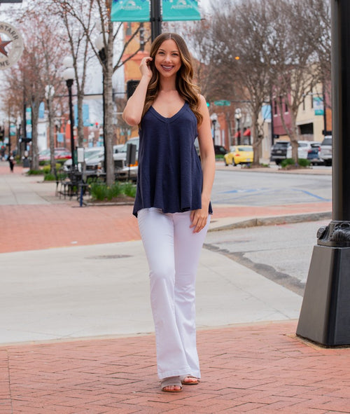Midnight Blue Tank Top - Marlow