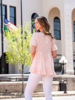 Smocked Square Neck Blouse