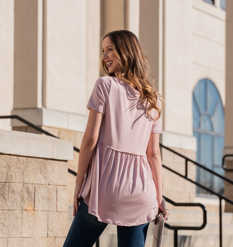 The Jada Round Neck Babydoll Top