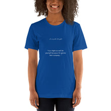 Load image into Gallery viewer, Short-Sleeve womensT-Shirt Empath's thoughts