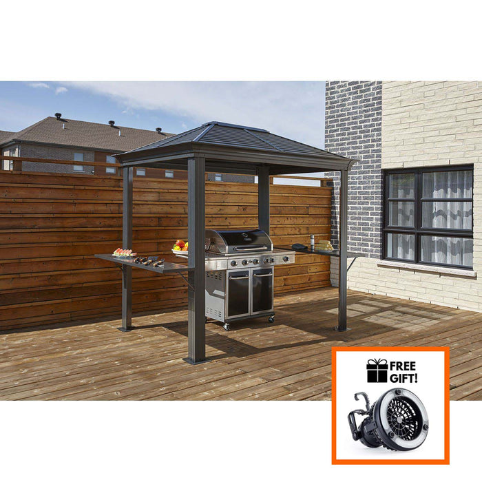 Sojag™ BBQ Mykonos BBQ Shelter With Galvanized Steel Roof - Size 5'x8':Tuff Nest