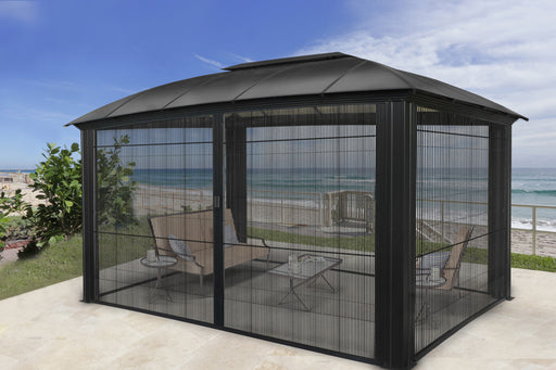 Paragon Outdoor™ Siena 12x16 Hard Top Gazebo with Sliding Screen, Size - 12' x 16':Tuff Nest