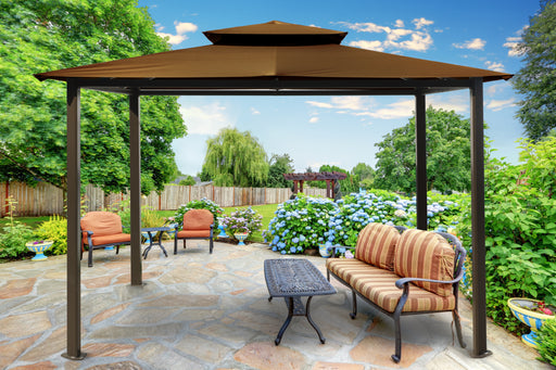 Paragon Outdoor™ Barcelona Gazebo  with Cocoa Top, Size - 10' x 12':Tuff Nest