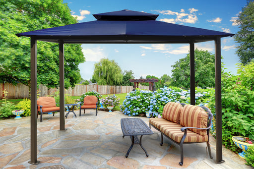 Paragon Outdoor™ Barcelona Gazebo with Navy Top, Size - 10' x 12':Tuff Nest