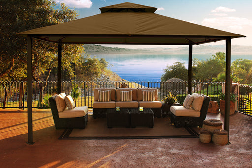 Paragon Outdoor™ Kingsbury Gazebo with Cocoa Sunbrella Top, Size - 11' x 14':Tuff Nest