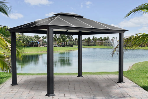 Paragon Outdoor™ Santa Monica Hard Top Gazebo, Size - 11' x 13':Tuff Nest