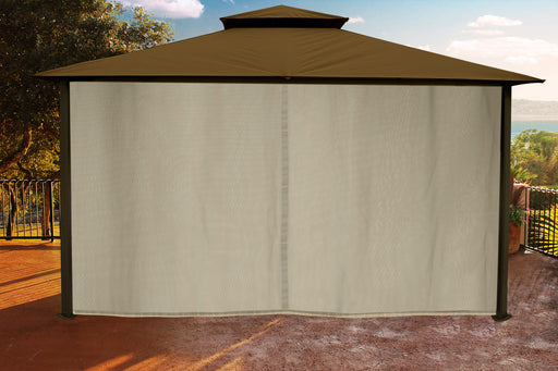 Paragon Outdoor™ Sedona Gazebo with Cocoa Color roof and Privacy Curtains and Mosquito Netting, Size - 11' x 14':Tuff Nest