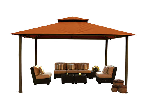 Paragon Outdoor™ Kingsbury Gazebo with Rust Top and Mosquito Netting, Size - 11' x 14':Tuff Nest