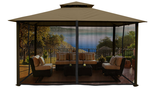 Paragon Outdoor™ Kingsbury Gazebo with Sand Top and Mosquito Netting, Size - 11' x 14':Tuff Nest