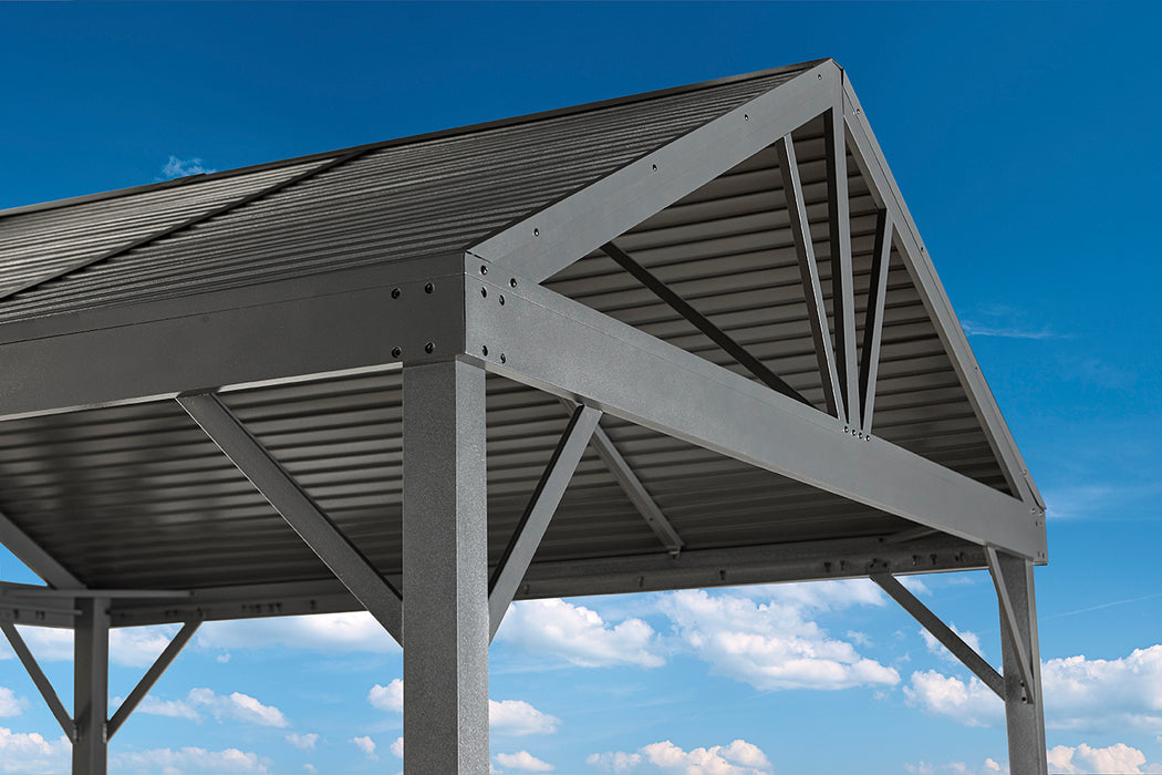 Sojag™ Sanibel I Sun Shelter/Gazebo With Galvanized Steel Roof and Nylon Mesh Screen:Tuff Nest
