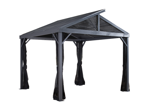 SANIBEL II # 93LLL - Shelter 10'x10 'galvanized steel roof, nylon mesh screen:Tuff Nest