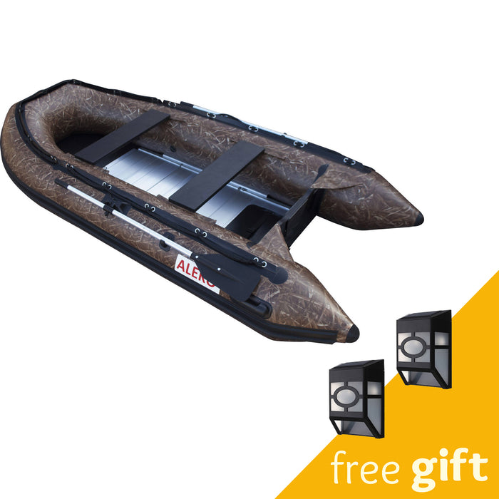 Aleko® Inflatable Boat with Aluminum Floor - 10.5 ft - Hunter Style:Tuff Nest