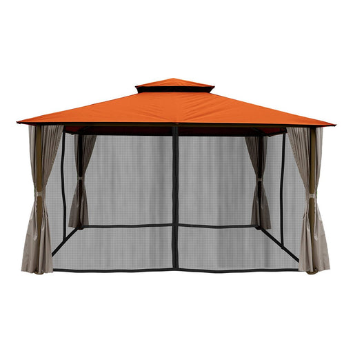 Paragon Outdoor™ Barcelona Gazebo with Rust Roof and Mosquito Netting, Size - 10' x 12':Tuff Nest