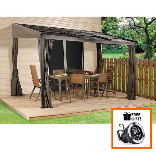 Sojag™ Francfort Wall Mounted Gazebo With Mosquito Netting & Curtains - Size 10'x12':Tuff Nest