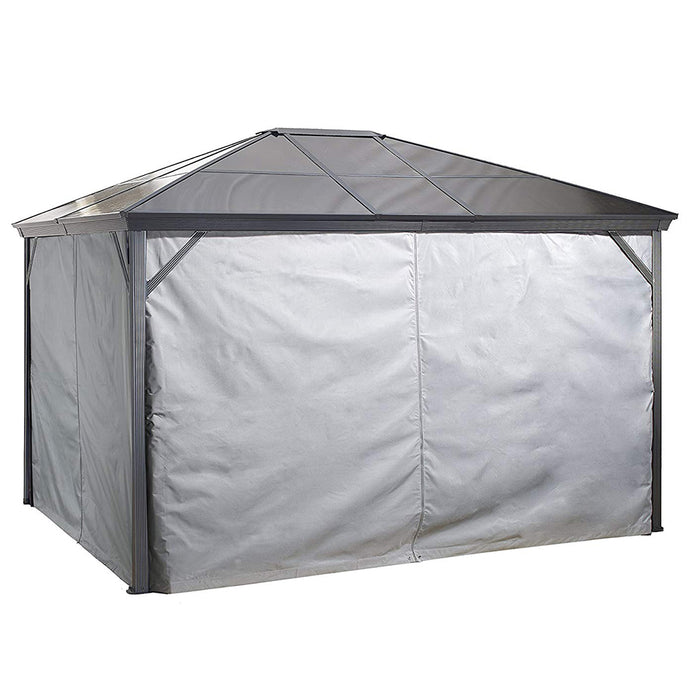 Tuff Nest, Sojag™ Verona Grey Polyester Gazebo Curtains, {variant_title]
