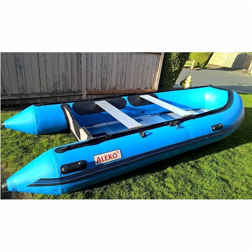 Aleko® Inflatable Boat with Aluminum Floor - 13.8 ft - Blue:Tuff Nest