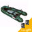 Aleko® PRO Fishing Inflatable Boat with Aluminum Floor - Front Board Holders - 12.5 ft - Dark Green:Tuff Nest