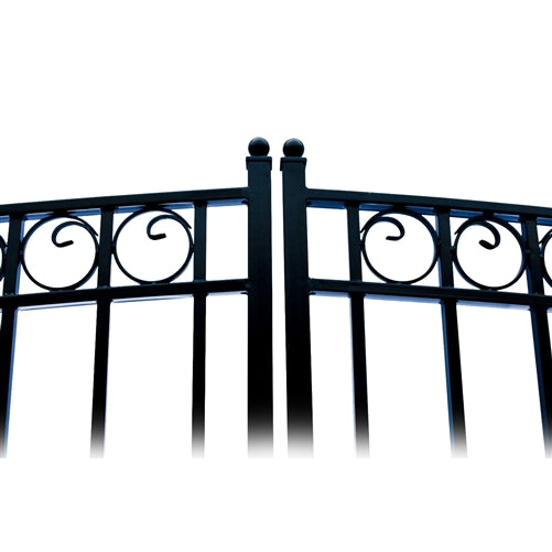 Aleko® Steel Dual Swing Driveway Gate - PARIS Style - 12 x 6 Feet:Tuff Nest