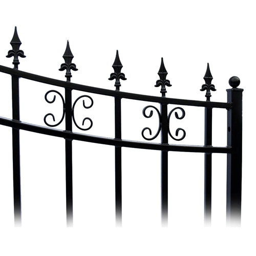 Aleko® Steel Single Swing Driveway Gate - ST.PETERSBURG Style - 14 x 6 Feet:Tuff Nest