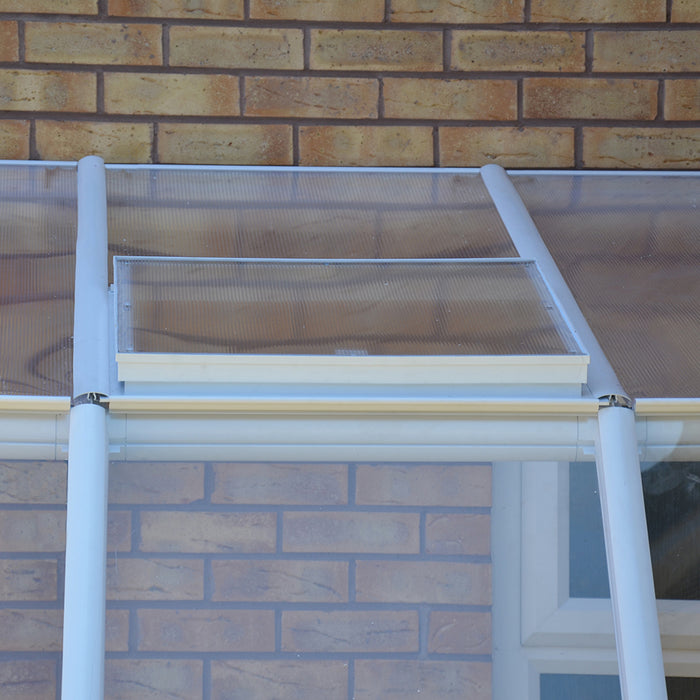 Rion Sun Room 2 Greenhouse, 100% UV Protected Roof Panels - Size 6'x6':Tuff Nest