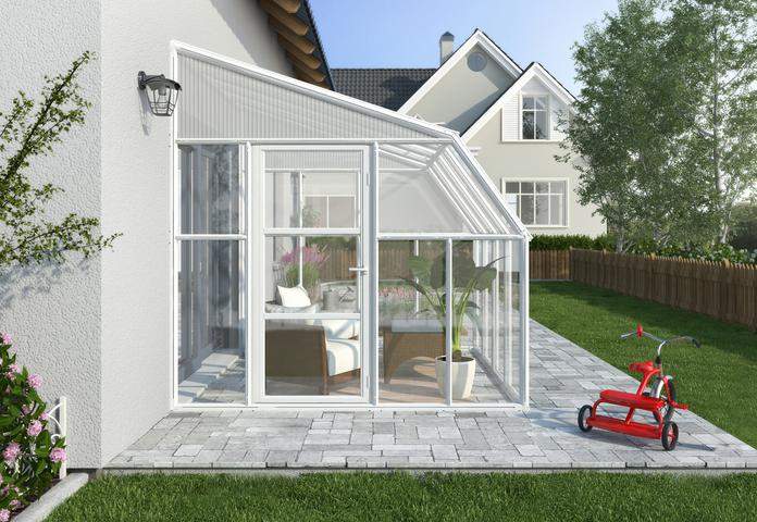 Tuff Nest, Rion Sun Room 2 Greenhouse, Translucent Side Walls, White, {variant_title]
